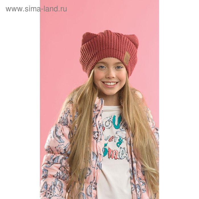 Шапка для девочек, размер 51-52,  цвет терракотовый  GQ4003