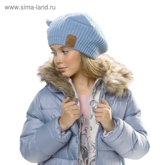Шапка для девочек, размер 53-54,  цвет голубой  GQ4003
