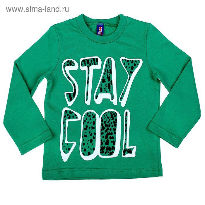 """Джемпер для мальчика """"Оставайся классным"""", рост 122-128 (32), цвет зелёный (арт. Р827882_Д)"""