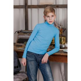 Водолазка для мальчика, рост 122-128 см, цвет голубой (арт.160-М_Д)