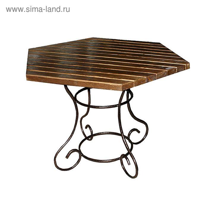 Стол «Краб» с деревянными планками