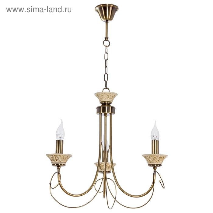 "Люстра классика ""Флоренция"" 3 лампы (220V 40W E14)"