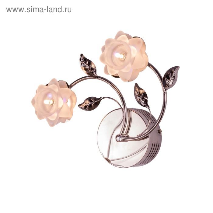 """Бра галоген """"Ирина"""" 2 лампы, основание хром (220V 20W G4)"""