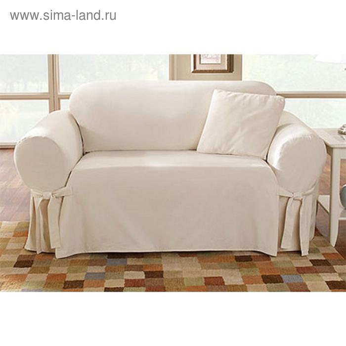 Чехол Брайтон на 3-х местный диван, ширина спинки от 185 до 235 см, цвет песочный