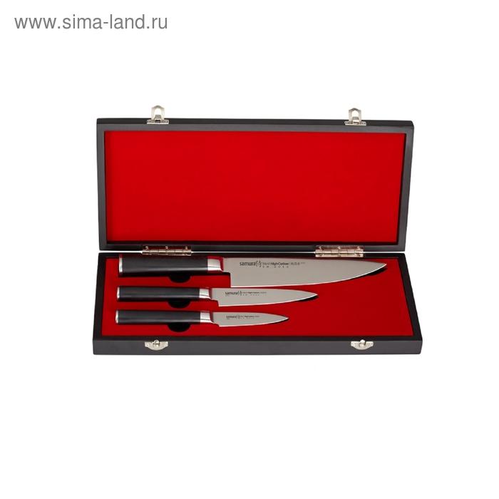 Набор ножей Samura Mo-V, 3 предмета, в подарочной коробке