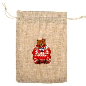 Мешочек подарочный 'Счастливый медведь' 13 х 18 см Ош