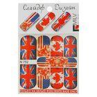 """Слайдер-дизайн для маникюра """"Флаги"""", N752, цвет белый/синий/красный"""