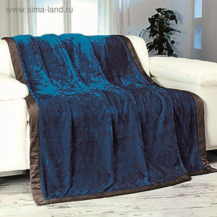 Плед GOEZZE Seiden-Feeling, 150X200, цвет темно-синий