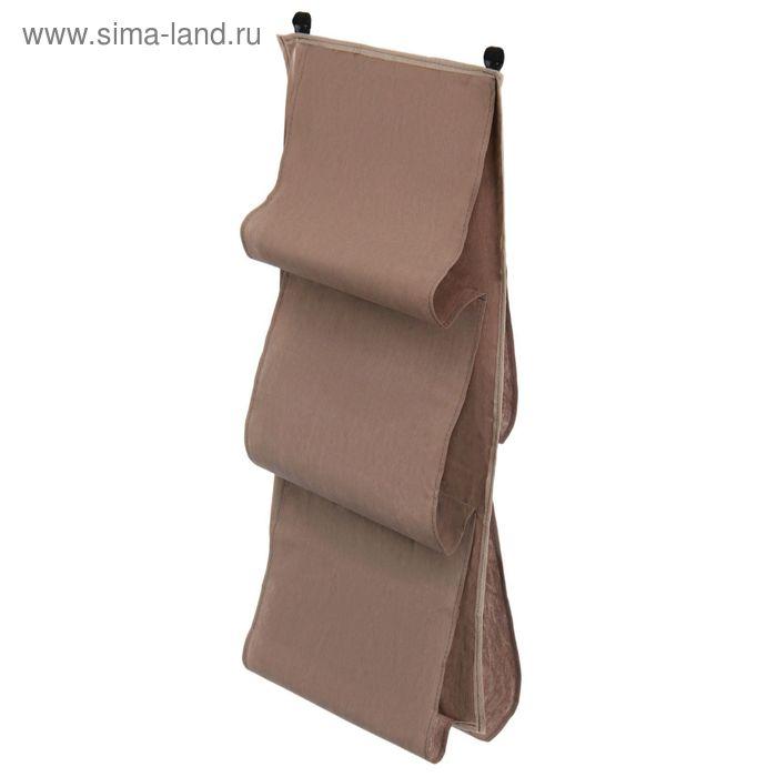 Органайзер для сумок подвесной, 80х45 см, цвет серый