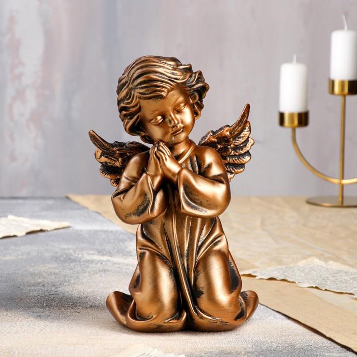 """Статуэтка """"Ангел молящийся в платье"""" бронза"""