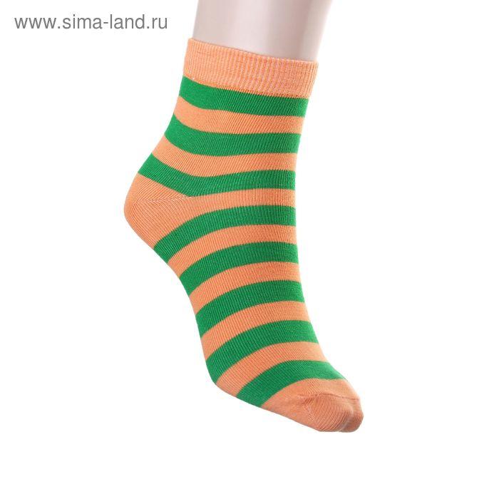 Носки женские арт.12231, размер 25, цвет оранжевый/зелёный