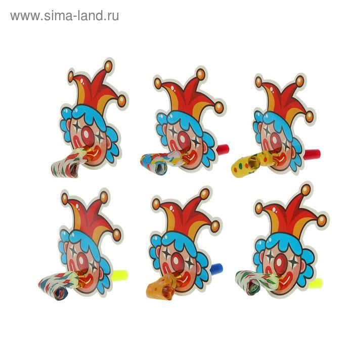 """Карнавальный язычок """"Шут"""" (набор 6 штук), цвета МИКС"""