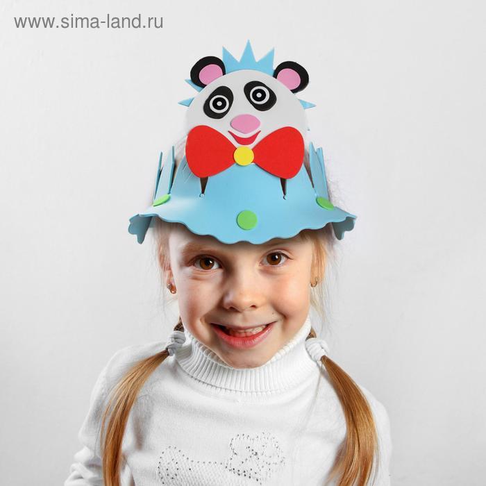 """Карнавальная шляпа вырезная """"Панда"""""""