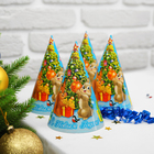 """Колпак бумажный """"С новым годом"""" елочка с подарками"""