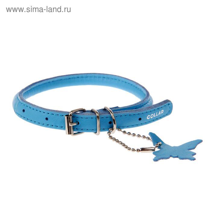 Ошейник CoLLaR Glomour для длинношерстных собак, 25-33 х 0,6 см, синий