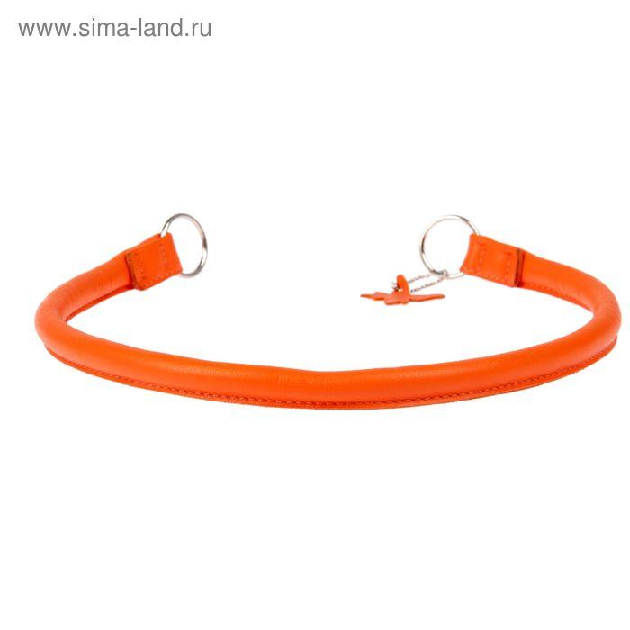Ошейник-удавка рывковый CoLLaR Glomour, 65 х 1,3 см, оранжевый