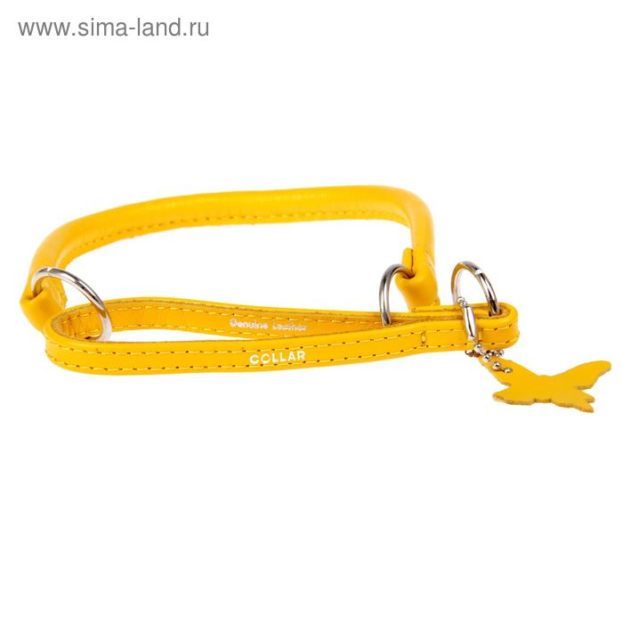 Ошейник-удавка CoLLaR Glomour, 35 х 0,8 см, желтый