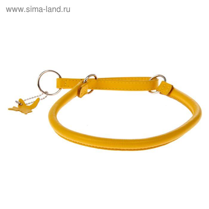 Ошейник-удавка CoLLaR Glomour, 50 х 1 см, желтый