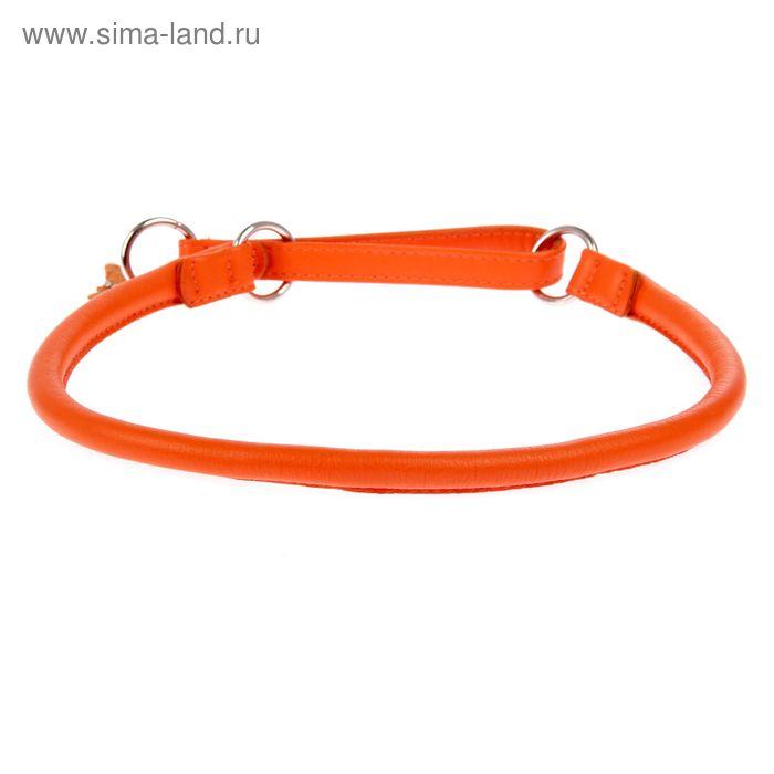 Ошейник-удавка CoLLaR Glomour, 70 х 1,3 см, оранжевый
