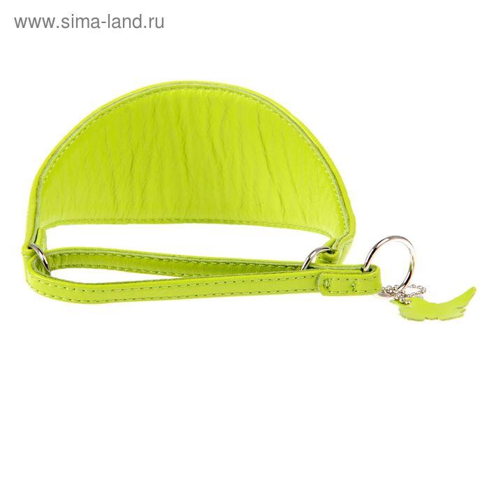 Ошейник-удавка широкий CoLLaR Glomour , 33-42 х 6 см, зеленый
