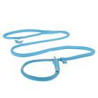 Поводок-удавка CoLLaR Glomour, 1.35 м х 1 см, синий
