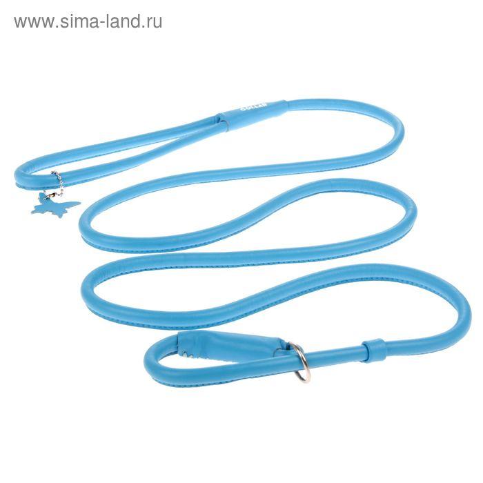 Поводок-удавка CoLLaR Glomour, 1.83 м х 1 см, синий