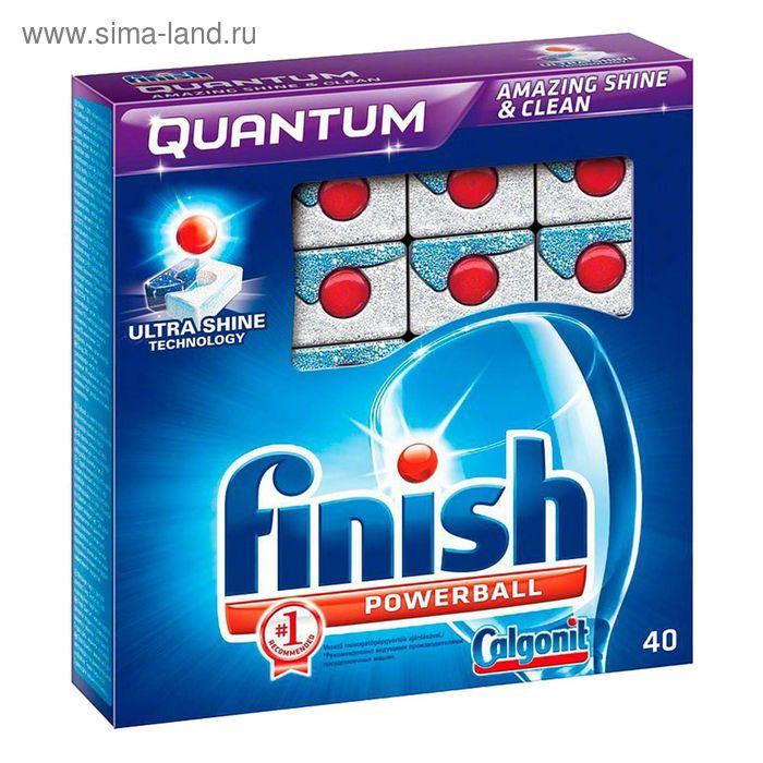 Cредство Finish Quantum для мытья посуды в посудомоечных машинах, в таблетках, 40 шт, в коробке 8 шт