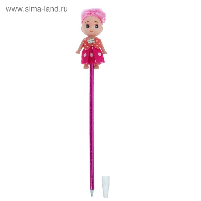 """Прикол ручка """"Куколка"""", цвета МИКС"""