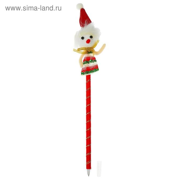 """Ручка шариковая """"Снеговик в колпачке"""""""