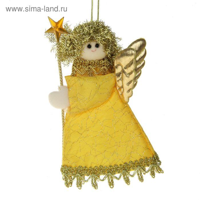 """Мягкая ёлочная игрушка """"Золотая фея"""""""