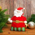 """Новогодний мешок для подарков """"Дед Мороз"""" с завязками, вместимость 100-120 г"""