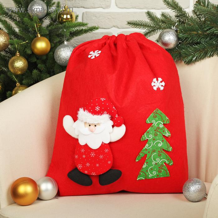 "Новогодний мешок ""Дед Мороз с ёлочкой"""