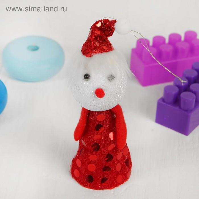 """Новогодняя игрушка-прыгун """"Снеговик"""", цвета МИКС"""