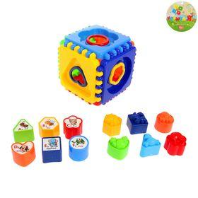 """Развивающая игрушка """"Сортер-куб"""", 12 элементов"""