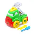 """Конструктор для малышей """"Машина с лестницей"""", 26 деталей, цвета МИКС"""