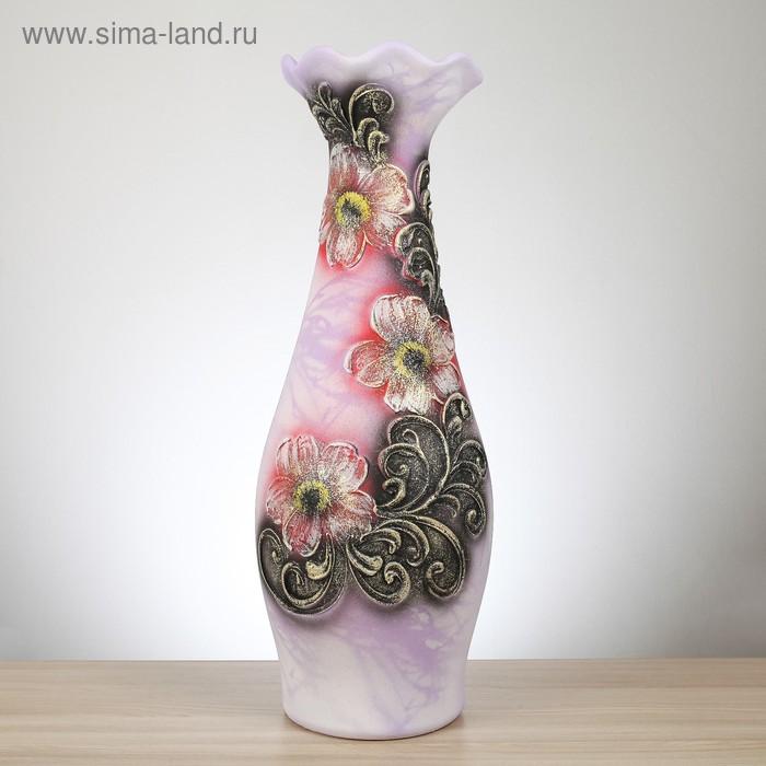 """Ваза напольная """"Эллегия"""" акрил, цветы, сиреневый"""