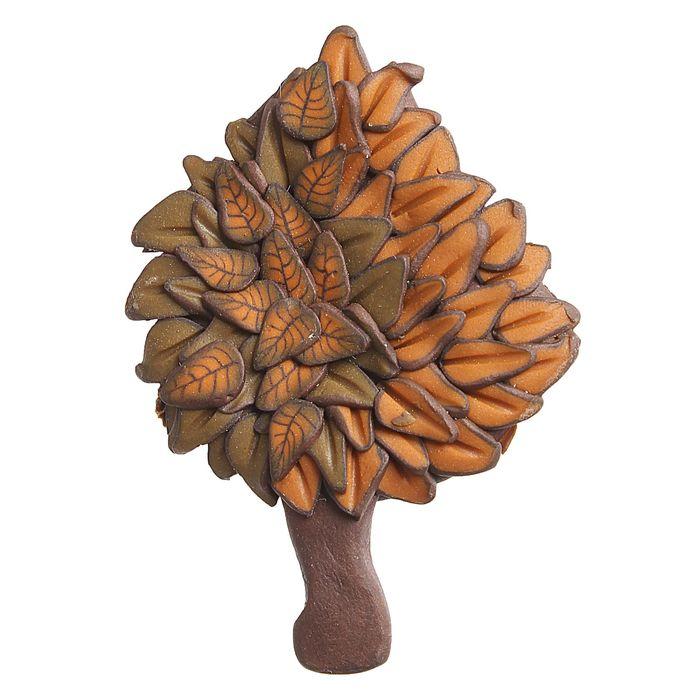 """Брошь ручная работа """"Деревце"""", цвет коричневый"""