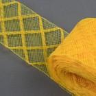 Регилин плоский клетка, 45мм, 22±1м, цвет жёлтый