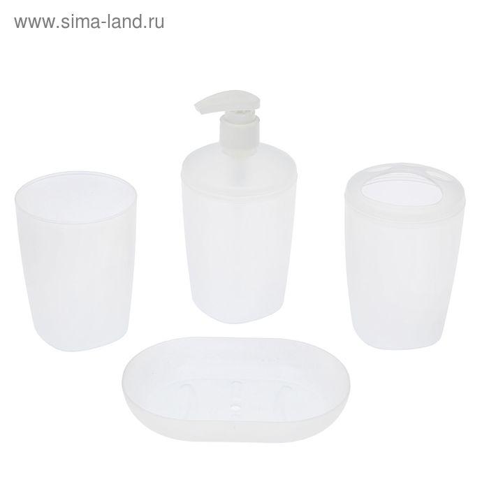 """Набор аксессуаров для ванной комнаты """"Aqua"""", прозрачный"""