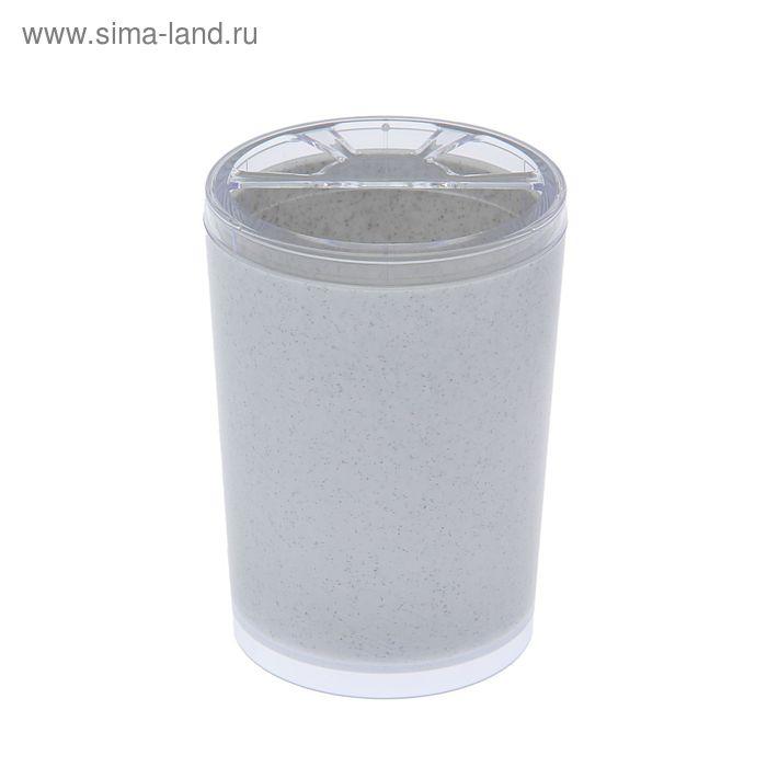 "Подставка для зубных щеток ""Joli"", белый мрамор"
