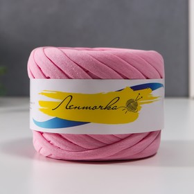 Пряжа трикотажная широкая 50м/160гр, ширина нити 7-9 мм (110 св.розовый)