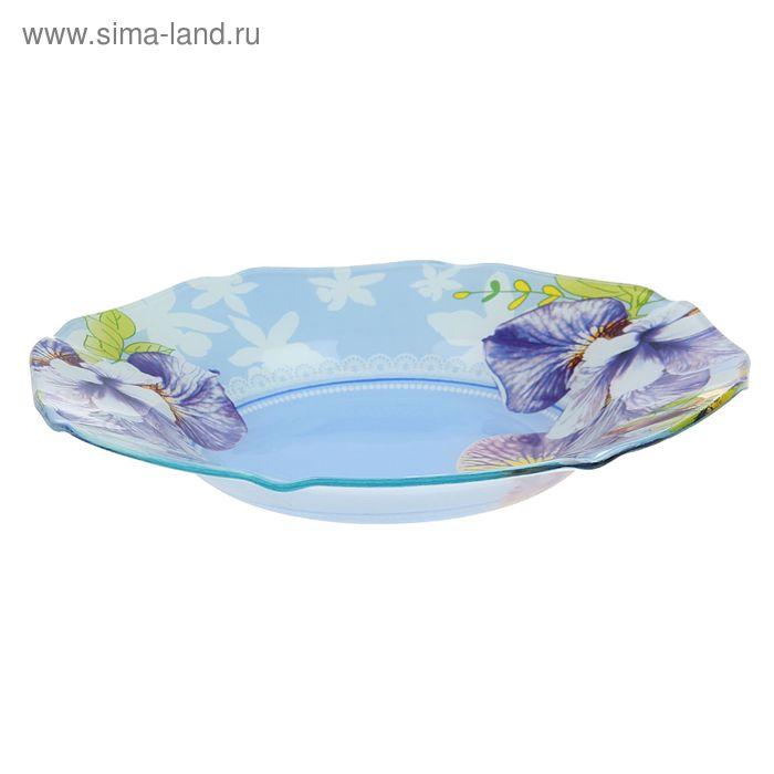 """Салатник 800 мл """"Голубые орхидеи"""", 25х4 см"""