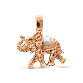 Подвеска 'Слон', позолота Ош