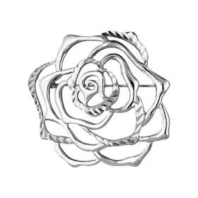 """Брошь """"Роза"""", посеребрение с оксидированием"""