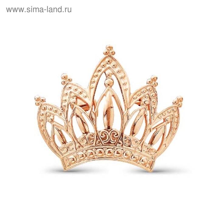 """Брошь """"Корона"""", позолота"""