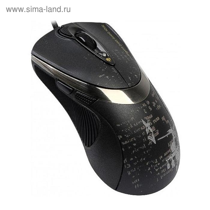 Мышь A4 V-Track F4, черный, оптическая,USB