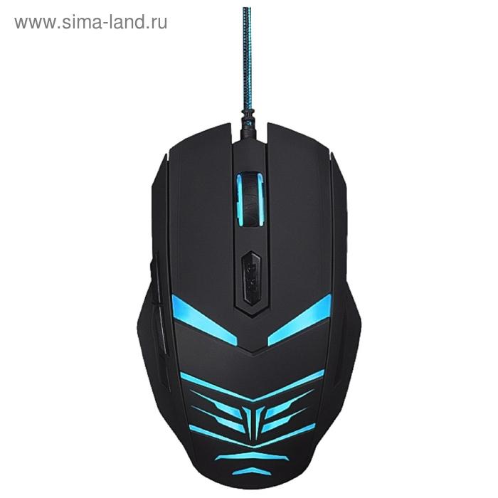 Мышь Oklick 745G LEGACY, черный/голубой, оптическая, USB