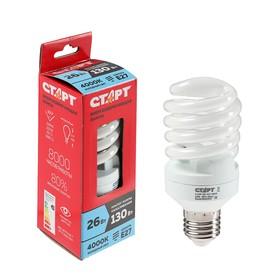 """Лампа """"Старт"""" 26WSPC, серия эко, энергосберегающая, E27, 26 Вт, 4000 K"""