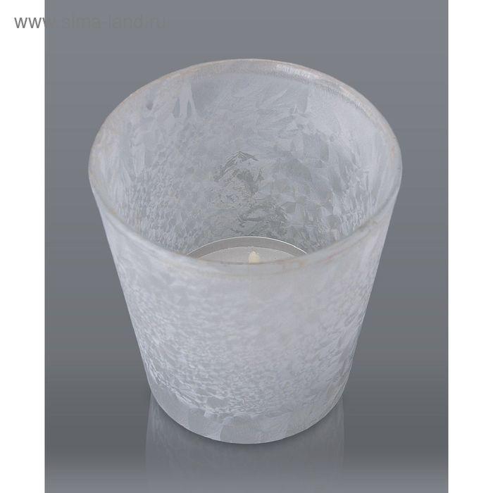 Подсвечник белый морозный с гильзой