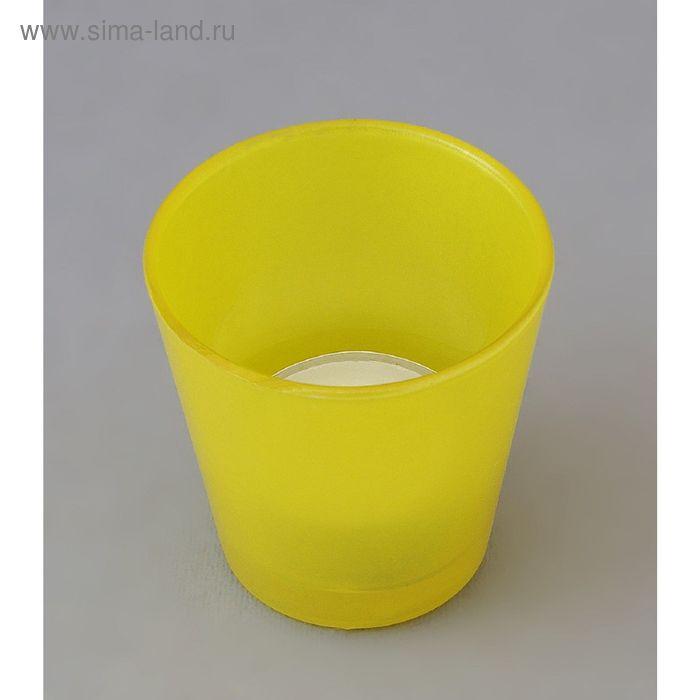 Подсвечник  желтый с гильзой
